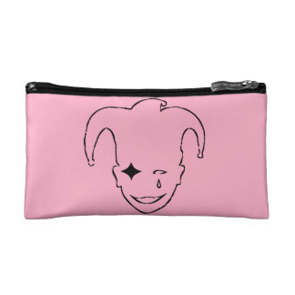 Pink And Black MTJ Makeup Bag