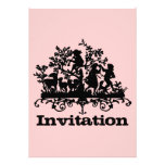 Pink And Black Music And Dancing. Invite