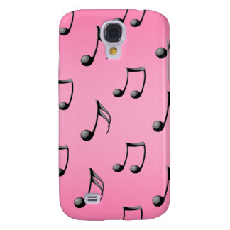 Pink and Black Music Note Pattern iPhone3 Case