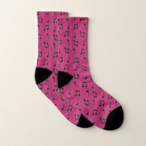 Pink and Black Musical Socks