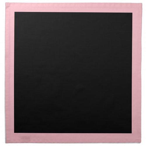 Pink and Black Napkins