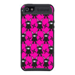 Pink and Black Ninja Bunny Pattern iPhone 5 Case
