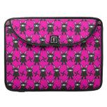 Pink and Black Ninja Bunny Pattern MacBook Pro Sleeve