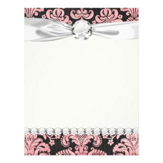 pink and black ornate fleur chic damask flyer