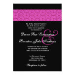 Pink and Black Pattern Wedding Invite
