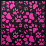 """Pink and Black Paw Prints Napkin<br><div class=""""desc"""">Pawprints! Pattern print with paw prints of a dog or cat in Hot pink and black.  This design has been done in vector.</div>"""