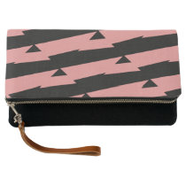 Pink and Black Peaks Clutch