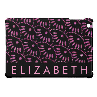 Pink and Black Personalized iPad Mini Case