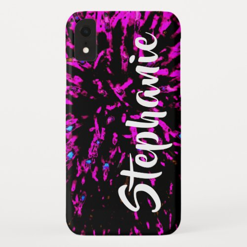 Pink and Black Personalized iPhone XR, XS, XS Max iPhone XR Case