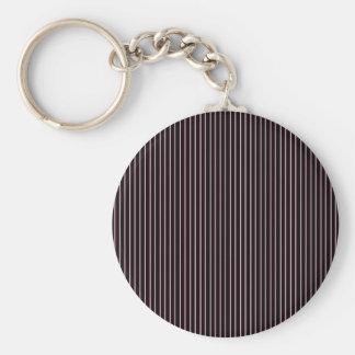 Pink and Black Pinstripe Keychain
