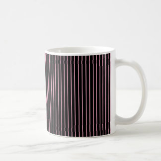 Pink and Black Pinstripe Mug