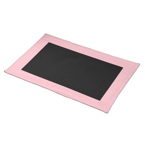 Pink and Black Placemat