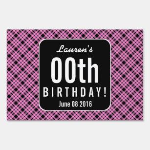 60th Birthday Party Yard Lawn Signs Zazzle