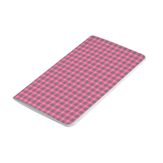 Pink and Black Plaid Check Journal