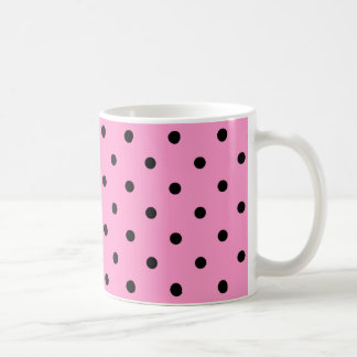 Pink and Black Polka Dot Pattern. Mug