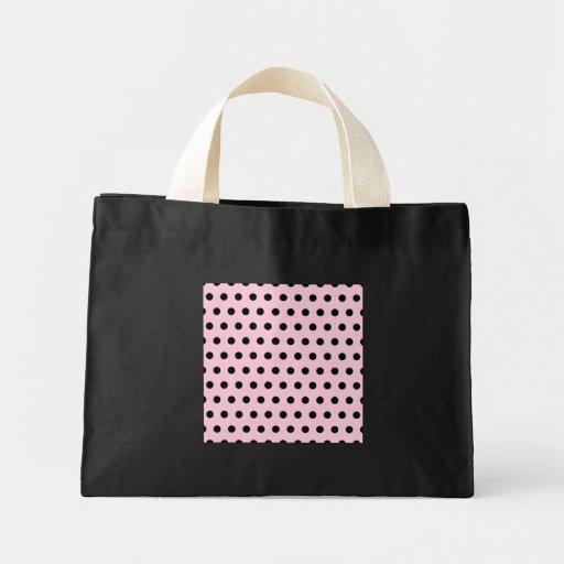 Pink and Black Polka Dot Pattern. Spotty. Tote Bag