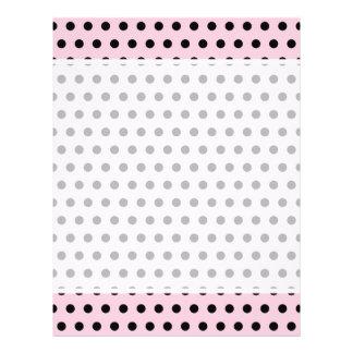 Pink and Black Polka Dot Pattern. Spotty. Flyer