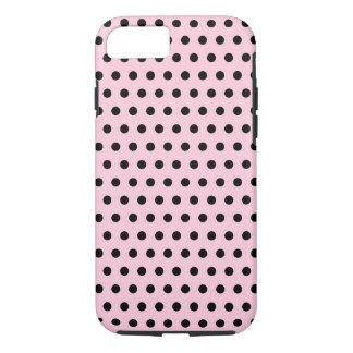 Pink and Black Polka Dot Pattern. Spotty. iPhone 8/7 Case