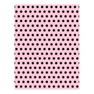 Pink and Black Polka Dot Pattern. Spotty. Postcard