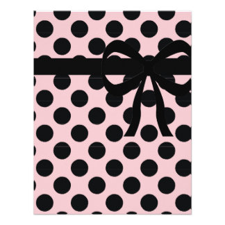 Pink and Black- Polka Dots Custom Invitation