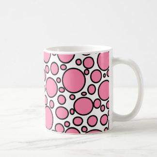 Pink and Black Polka Dots Mug