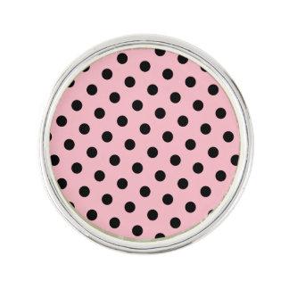 Pink and Black Polka Dots Pin