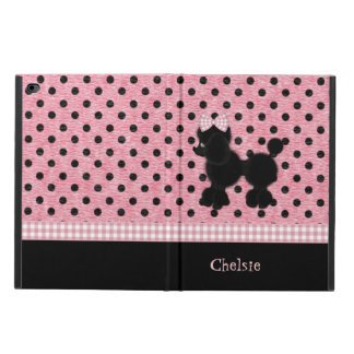 Pink and Black Polka Dots & Poodle iPad Air 2 Case