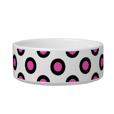 Professional Business pink and black polka dots products bowl