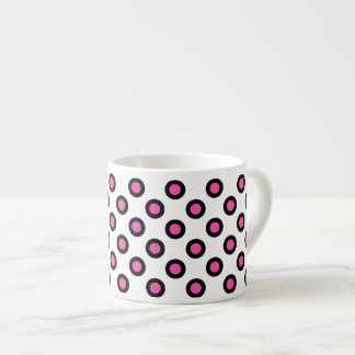pink and black polka dots products espresso cup