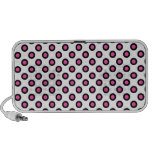 pink and black polka dots products speakers