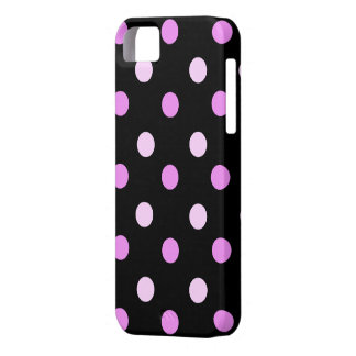 Pink and Black Polka iPhone 5 Case