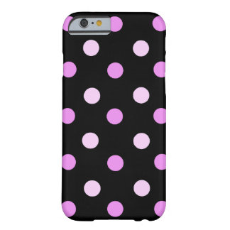 Pink and Black Polka iPhone 6 case