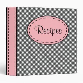 Pink and Black Recipe Binder