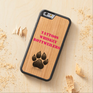 Pink and Black Rottweiler iphone 6 Phone Case