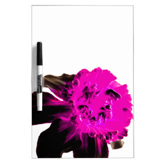 Pink and Black Ruffled Daffodil Dry-Erase Whiteboards