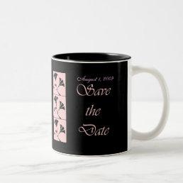 Pink and Black Save the Date Wedding Mug