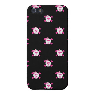 Pink and Black Skulls iPhone 4/4S Covers For iPhone 5