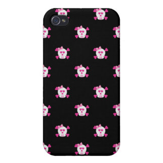 Pink and Black Skulls iPhone 4/4S iPhone 4/4S Cover