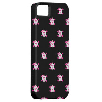 Pink and Black Skulls iPhone 5 iPhone 5 Case