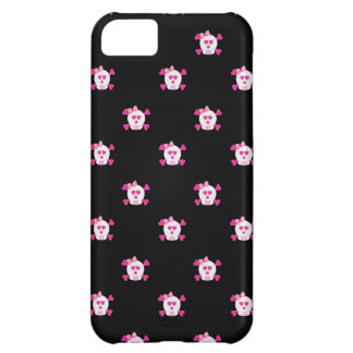 Pink and Black Skulls iPhone 5 iPhone 5C Cases
