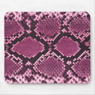 Pink and Black Snakeskin Mouse Pad