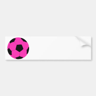Pink and Black Soccer Ball Bumper Sticker