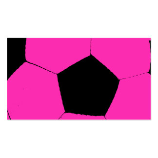 Pink and Black Soccer Ball Business Card