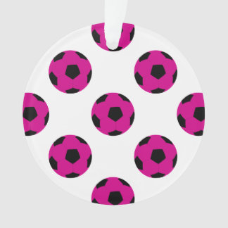 Pink and Black Soccer Ball Pattern