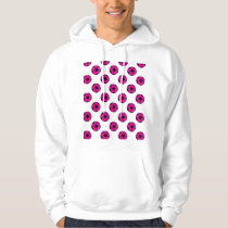 Pink and Black Soccer Ball Pattern Hoodie