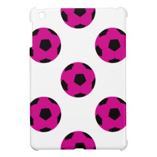 Pink and Black Soccer Ball Pattern iPad Mini Case