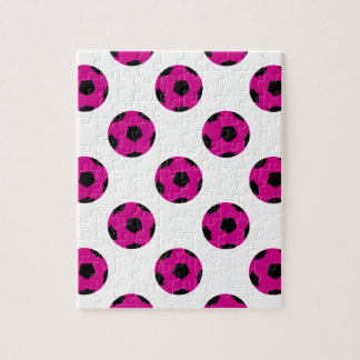 Pink and Black Soccer Ball Pattern Puzzles