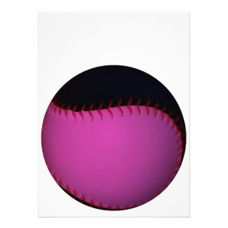 Pink and Black Softball Custom Announcement