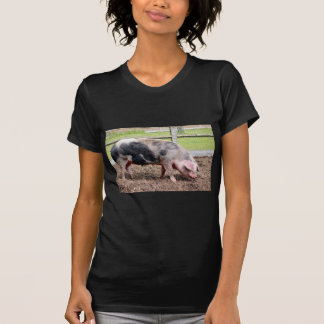 Pink and black sow t shirt