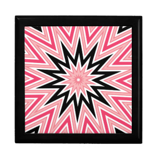Pink and Black Star Kaleidoscope Gift Box